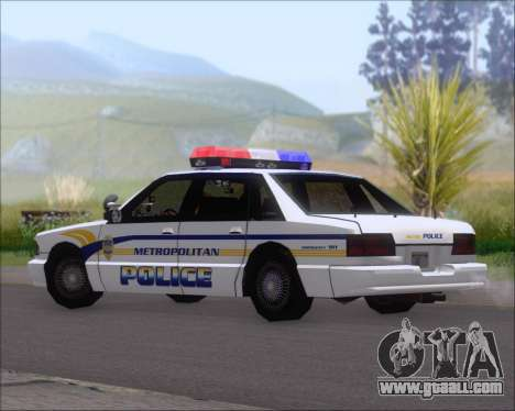 Police LS Metropolitan Police for GTA San Andreas back left view