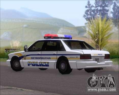 Police LS Metropolitan Police for GTA San Andreas