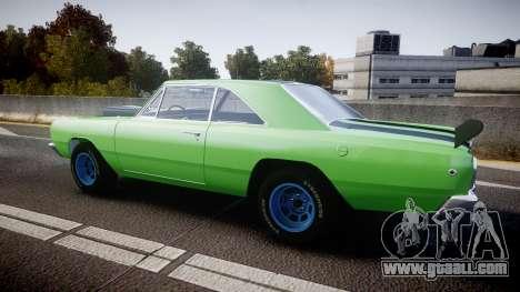 Dodge Dart HEMI Super Stock 1968 rims3 for GTA 4 left view
