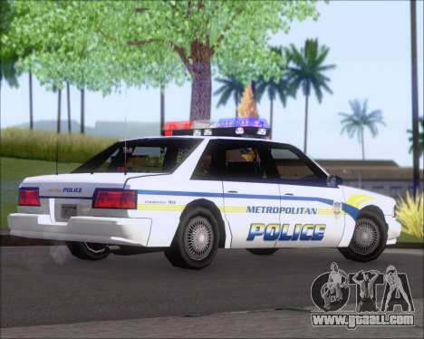 Police LS Metropolitan Police for GTA San Andreas right view
