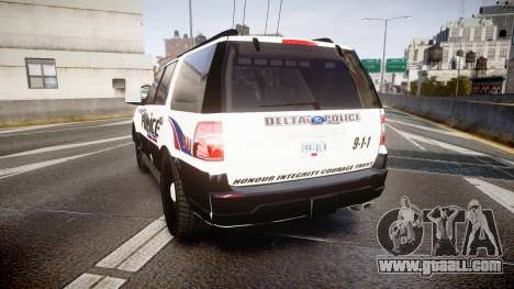 Ford Expedition 2010 Delta Police [ELS] for GTA 4 back left view
