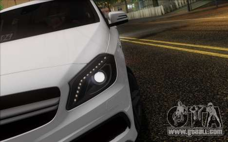 Mercedes-Benz A45 AMG for GTA San Andreas bottom view