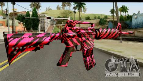 Red Tiger M4 for GTA San Andreas second screenshot