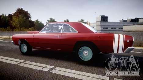 Dodge Dart HEMI Super Stock 1968 rims2 for GTA 4 left view