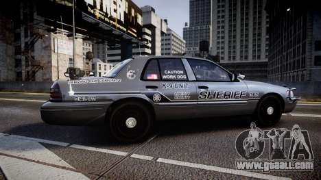 Ford Crown Victoria Sheriff K-9 Unit [ELS] pushe for GTA 4 left view