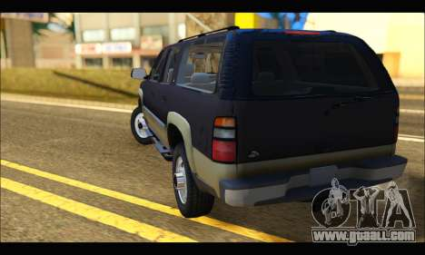 GMC Yukon XL 2003 for GTA San Andreas back left view