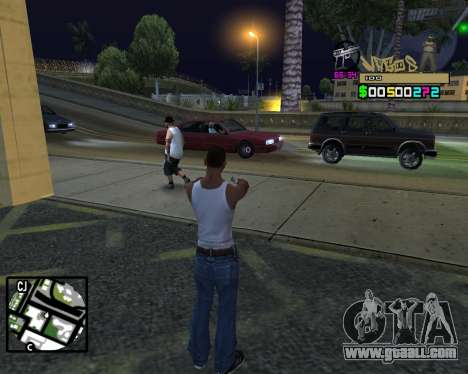 C-HUD Vagos for GTA San Andreas fifth screenshot