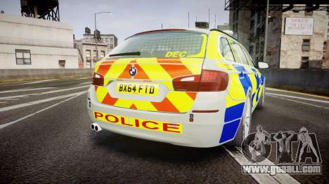 BMW 525d F11 2014 Metropolitan Police [ELS] for GTA 4 back left view