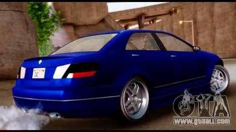 GTA 5 Schafter Bumper for GTA San Andreas left view