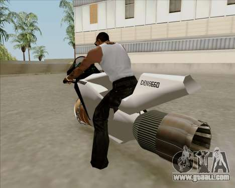 Air bike for GTA San Andreas left view