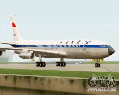 Boeing 707-300 CAAC for GTA San Andreas back view