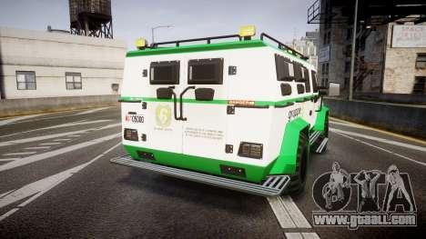 Gruppe6 Van [ELS] for GTA 4 back left view