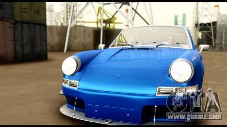 Porsche 911 Carrera 2.7RS Coupe 1973 Tunable for GTA San Andreas interior