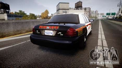 Ford Crown Victoria Sheriff [ELS] rims1 for GTA 4 back left view