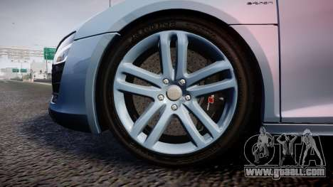 Audi R8 E-Tron 2014 dual tone for GTA 4 back view