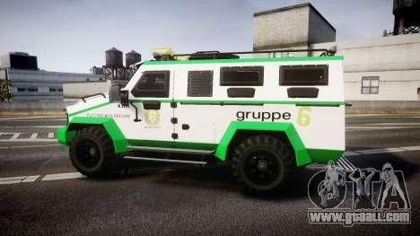 Gruppe6 Van [ELS] for GTA 4 left view