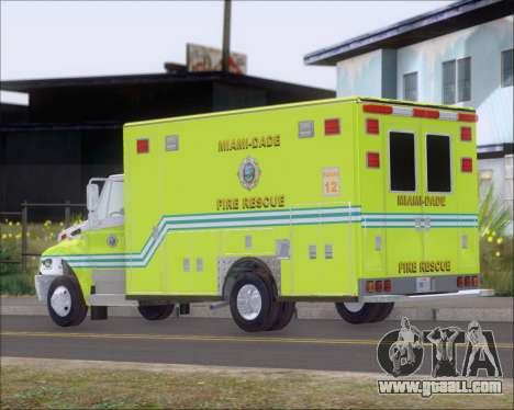 Pierce Commercial Miami Dade Fire Rescue 12 for GTA San Andreas right view