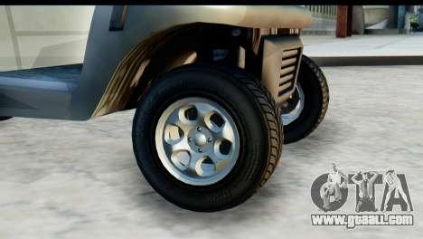 GTA 5 Caddy v2 for GTA San Andreas back left view