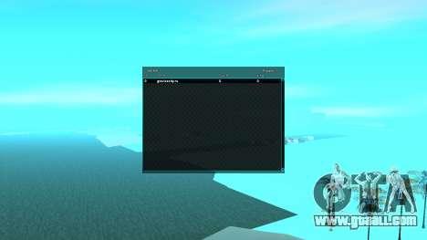 SampGUI Aqua for GTA San Andreas