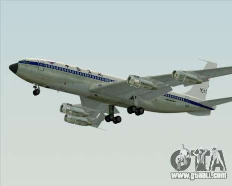 Boeing 707-300 CAAC for GTA San Andreas back left view