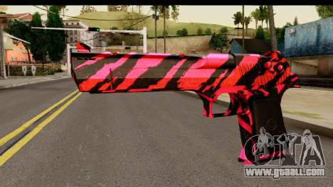 Red Tiger Desert Eagle for GTA San Andreas