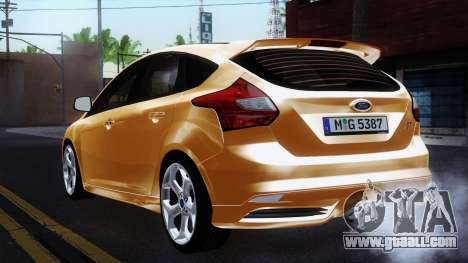 Ford Focus ST 2013 for GTA San Andreas back left view