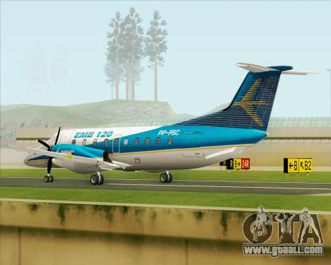 Embraer EMB 120 Brasilia Embraer Livery for GTA San Andreas right view