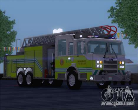 Pierce Arrow XT Miami Dade FD Ladder 22 for GTA San Andreas left view