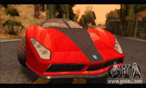 Grotti Cheetah v3 (GTA V) for GTA San Andreas left view