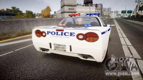 Invetero Coquette Police Interceptor [ELS] for GTA 4 back left view