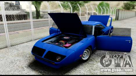 Plymouth Roadrunner Superbird RM23 1970 HQLM for GTA San Andreas back view