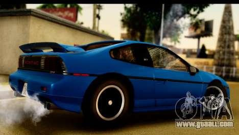 Pontiac Fiero GT G97 1985 IVF for GTA San Andreas right view