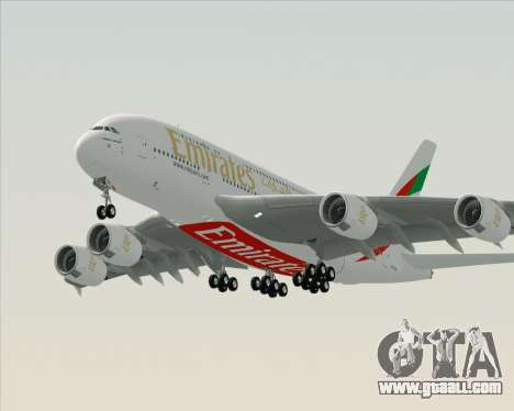 Airbus A380-800 Emirates (A6-EDH) for GTA San Andreas left view