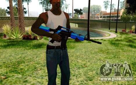 M4 Blue for GTA San Andreas second screenshot