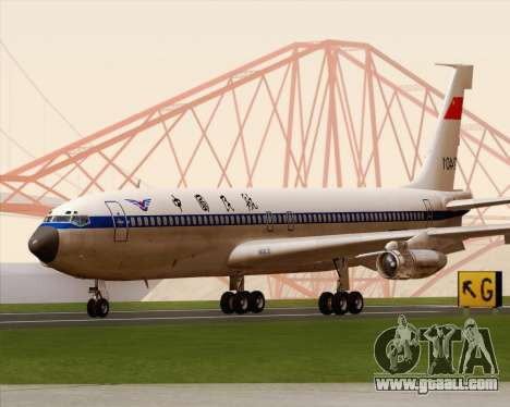 Boeing 707-300 CAAC for GTA San Andreas left view