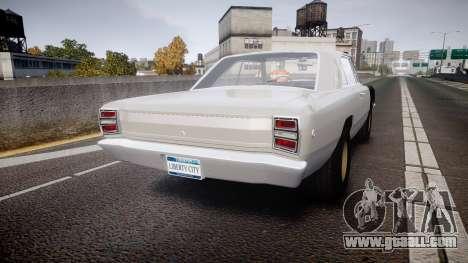 Dodge Dart HEMI Super Stock 1968 rims1 for GTA 4 back left view