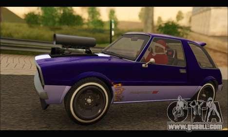Declasse Rhapsody v2 (Fixed Extra) (GTA V) for GTA San Andreas back left view