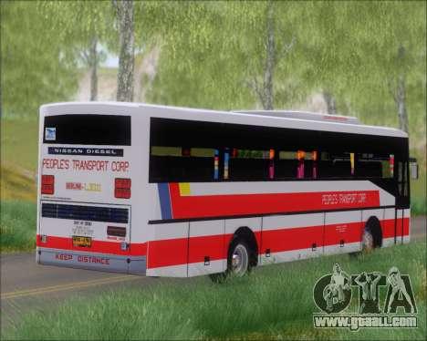 Nissan Diesel UD Peoples Transport Corporation for GTA San Andreas inner view