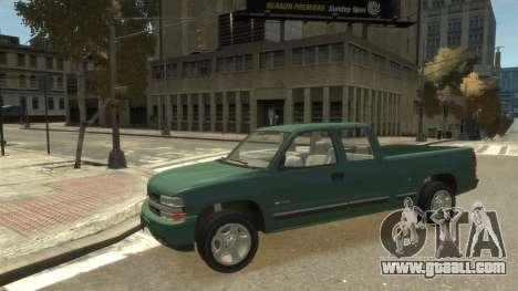 Chevrolet Silverado 1500 for GTA 4 back view