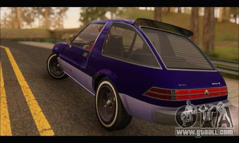Declasse Rhapsody v2 (Fixed Extra) (GTA V) for GTA San Andreas right view