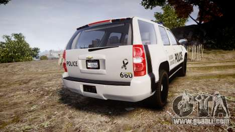 Chevrolet Tahoe 2010 Sheriff Dukes [ELS] for GTA 4 back left view