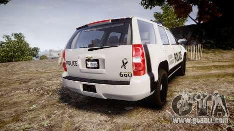 Chevrolet Tahoe 2010 Sheriff Dukes [ELS] for GTA 4 back left view