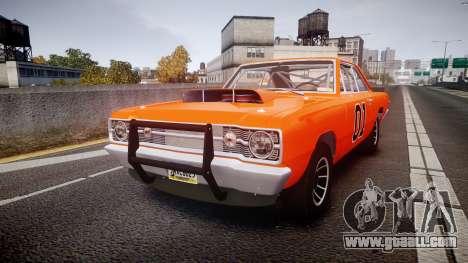 Dodge Dart HEMI Super Stock 1968 rims4 for GTA 4