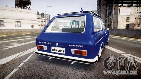 Volkswagen 1600 Variant 1973 for GTA 4 back left view