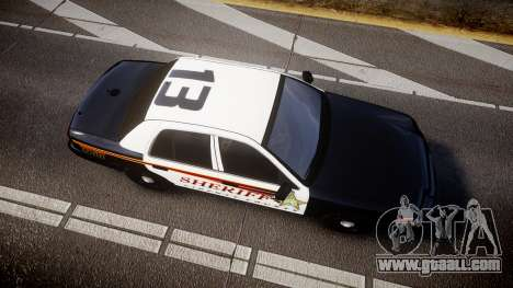 Ford Crown Victoria Sheriff [ELS] rims1 for GTA 4 right view