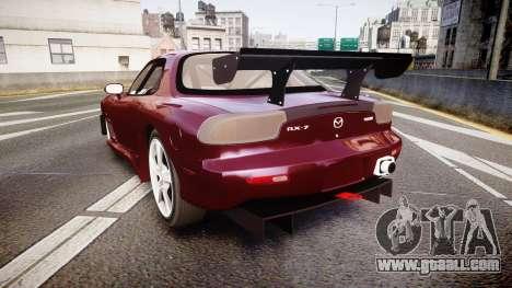Mazda RX-7 Custom for GTA 4 back left view