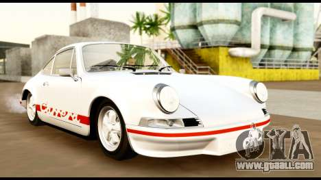 Porsche 911 Carrera 2.7RS Coupe 1973 Tunable for GTA San Andreas inner view
