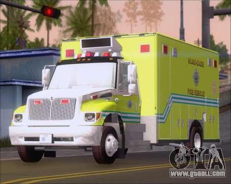 Pierce Commercial Miami Dade Fire Rescue 12 for GTA San Andreas