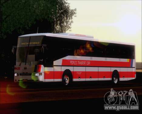Nissan Diesel UD Peoples Transport Corporation for GTA San Andreas back left view