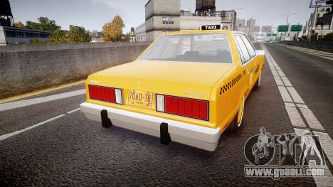 Ford Fairmont 1978 Taxi v1.1 for GTA 4 back left view